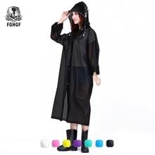 FGHGF Fashion EVA Women Raincoat Thickened Waterproof Rain Coat Women Clear Transparent Camping Waterproof Rainwear Suit(China)