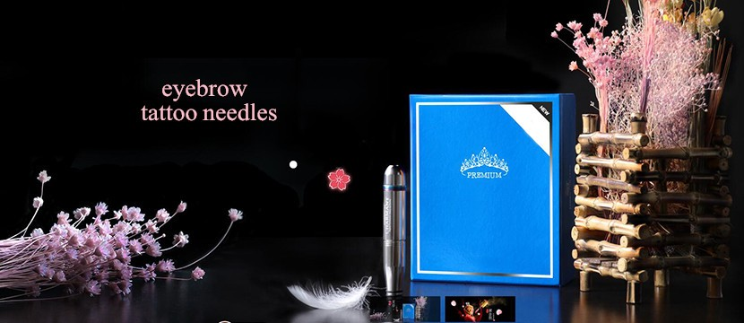 Pcs/Lot Mixed Eyebrow Tattoo Needle Blade PCD Microblading 12 Or 14 Sloped Needles For 3D Embroidery Manual Tattoo Pen Machine 1