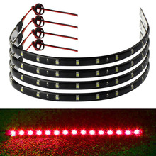 4PCS 30cm 15 LED Car Trucks Grill Flexible Waterproof Light Strips 4 Colors Universal Car Led Light Accessories Free Shipping(China)