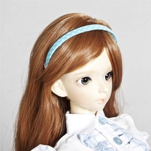789# OOAK Blue&Dots Hair Band Hairpin/Clasp For 1/3&1/4 MSD AOD DOD BJD Dollfie(China)