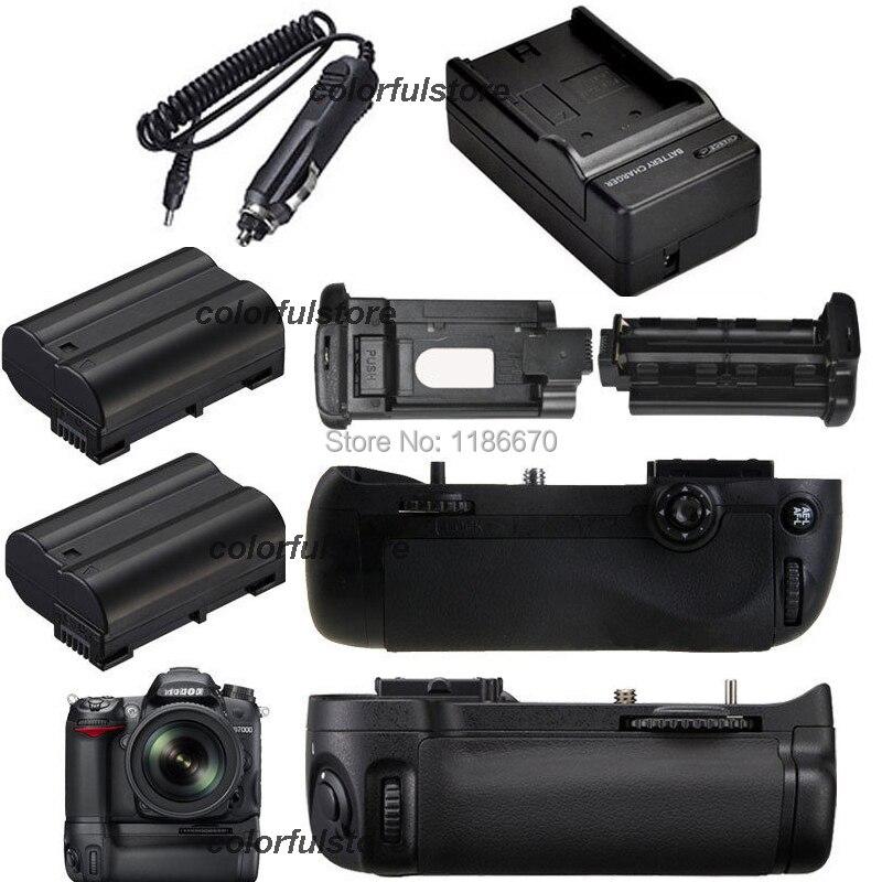 2-Step Vertical Power Shutter Battery Grip For Nikon D7100 D7200 DSLR Camera as MB-D15+IR Remote+2 x EN-EL15 ENEL15+ Car Charger<br><br>Aliexpress