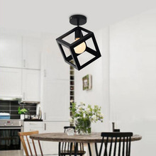 Modern High Quality Cube&Triangle Cone LED Iron Ceiling Light Bedroom Study Restaurant Lamp Decoration Lighting E27