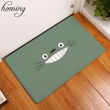 Homing New Arrive 40*60cm Entrance Door Mats Funny Cartoon Expression Totoro Carpets Children Bedroom Bedside Foot Pads Crafts