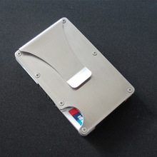 Metal Mini Money Clip Brand Fashion Credit Card ID Holder With RFID Anti-chief Wallet Automatic