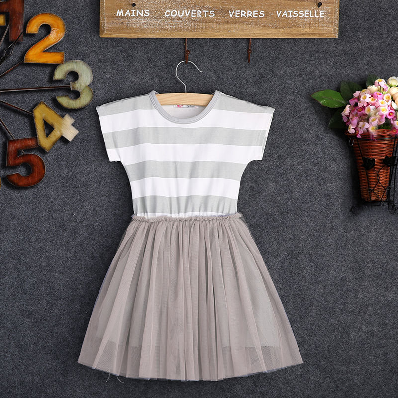 baby girl striped dress kids lace summer style Puffy Tulle dresses children bowknot clothing dress<br><br>Aliexpress