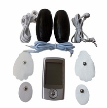 Dual-Channels Full Body Massager TENS Muscle Stimulator Slimming Machine+1Pair Electrode Hand Grenade For TENS Pain-Relieve