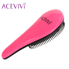 2016 Fashion Magic Detangling Handle Shower Hair Brush Comb Salon Styling Tamer Tool Black/Rose Red 31