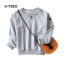V-TREE Boys Girls T Shirt Clothing Cotton Full Sleeve Sweatshirt For Kids Fashion Kids Childrens Tops Tees Outwear 2-8 Year