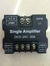 DC 12-24V 30A Single Color Data Repeater Signal Amplifier Aluminum Case for SMD 3528 5050 5630 2835 LED Strip Lights