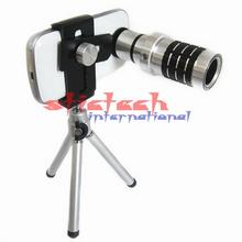 by dhl or ems 10pcs Camera Telescope Lens Camera Lens 12X Zoom + Mount Tripod For iPhone for Samsung Android phone(China)