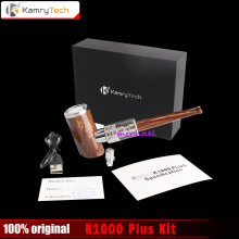 100% Original Kamry K1000 Plus E-Pipe kit 1000mAh Smoking Hookah Pen Wooden Design E Pipe Electronic Cigarette Hookah