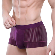 Hot Sale Mens panties Breathable Mesh Silk Men's Boxer Underwear Boxer Shorts Underwear Sexy Ondergoed Men(China)