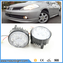 2pcs 36W white yellow golden led fog lights auto car accessories for focus,fiesta,renault megane,suzuki sx4, for peugeot 308 408