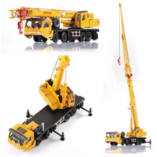 1 Pcs Alloy Engineering Vehicle Material Handling Vehicle Heavy Cranes Manipulator Arm Telescopic Boom Rotation Car Model Toys