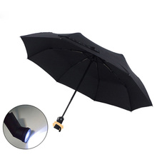 3 color sale LED automatic umbrella Star wars umbrella rain women men Light Flash Umbrella Night Protection