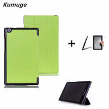 "PU leather Cover Case for lenovo Tab 2 A8-50 A8-50F A8-50LC 8"" Tablet PC Stand Case+film+pen"