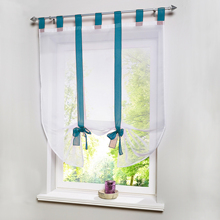 New Beautiful Euro Home Short Tulle Curtain For Kitchen Balcony Tieblinds Curtain 1 panel