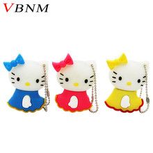 VBNM hello kitty cat pen drive hello kitty usb flash drive pendrive 4GB 8GB 16GB 32GB 64GB cartoon animal memory stick gift(China)