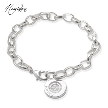 Thomas Basic Charm Bracelet with Circle-clasp Fit TS Charms Club, Plated Fashion Jewelry Gift for Women and Men TS B632(China)