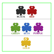 1000pcs cheap wholesale pet tags shamrock shaped id dog tags aluminum tags for dogs free shipping(China)