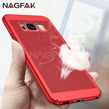 NAGFAK Heat Dissipation Luxury Case For Samsung Galaxy S8 plus S7 Full Cover PC Phone Cases for Samsung Galaxy S7 S7 edge Case(China)