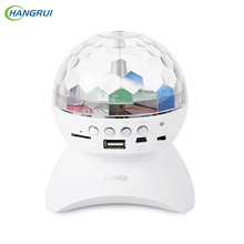 Hangrui Party/ Disco DJ Bluetooth Speaker With Built-In Light Show,Stage & Studio Effects Lighting, RGB Color , LED Crystal Ball