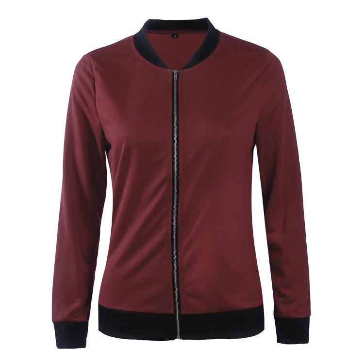 Hot Sprzedaż Jesień Tanie Ubrania Kobiet Małe Krótkie Kurtki Z Długim Rękawem Zipper Fly Outwear Kurtki Płaszcze Slim Cienkie Stylu topy Coat 16