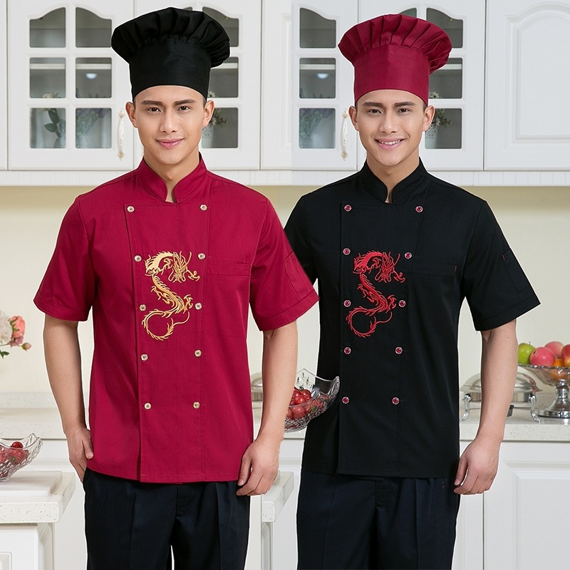 Hot Sales Chef Uniform Breathable Summer Hotel Kitchen Short Sleeved Overalls Men and Women Kitchen Uniforms(China)