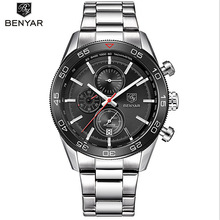 BENYAR Men's Watches Best Luxury Brand Military Sports Wrist Watch Reloj Hombre Dive Chronograph Quartz Watch relogio masculino