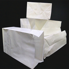 5 pcs Environmental 13x24cm White Paper Bags / Kraft Paper Bag / Takeaway Food Packaging