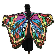 Butterfly Wings Printed Cover ups Soft Fairy Fabric Nymph Pixie Accessory Suit Beach Towel for Women(China)