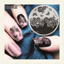 YZWLE Lace Flower Vintage Pattern Stamping Nail Art Image Plate 5.6cm Stainless Steel Template Polish Manicure Stencil Tools