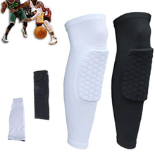 2 Pair High Quality Breathable Basketball Knee Pad Sports Safety Kneepad Honeycomb Pad Kneelet Protective Knee Pad Protector(China)