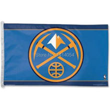 Denver Nuggets with modifeid Flag 150X90CM NBA 3X5FT Banner 100D Polyester grommets custom009, free shipping(China)