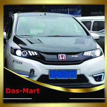 New Type Car Accessories for Honda Fit Head Lamp Headlight Modify Custom 2014-2017 Moving light