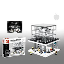 SEMBO Blocks Big size Street Shop DIY Building Bricks Apple Store Model Blocks Kids toys Children Gifts SD6900(China)