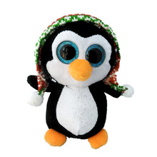 6'' 15cm Ty Beanie Boos Original Big Eyes Plush Toy Doll Child Brithday Black Penguin Baby For Kids Gifts S78