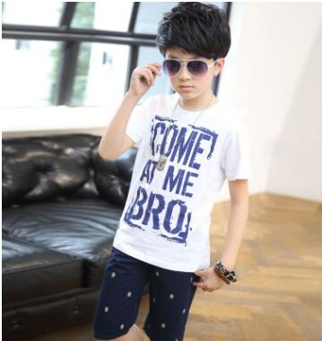 New 2017 Summer Boys Kids  Printed Childrens T-shirt Set Aad1015 Free Shipping<br>