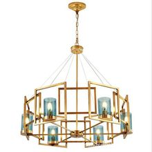 Contemporary Chandelier, Luxury Brass Modern American Style Dining Room Lighting Fixture Pendant Lamp Light for Bedroom(China)