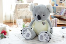 new arrival creative plush toy large 80cm gray koala plush toy soft throw pillow birthday gift b0260
