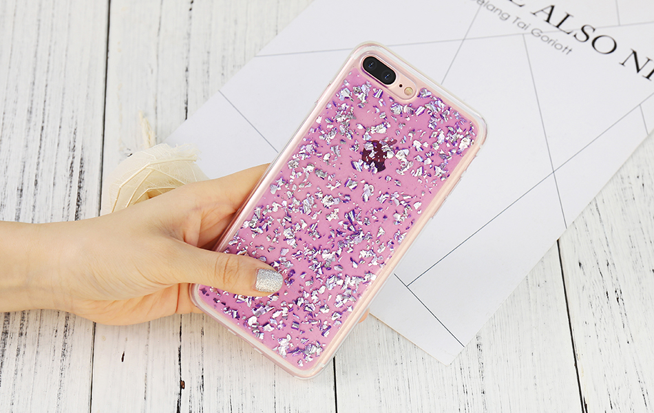 DOEES For iPhone 7 6 6S Plus 5 5S SE Case Luxury Cute Glitter Clear Case For Samsung Galaxy S8 Plus S7 S6 Edge S5 Note 7 5 Back Cover (18)