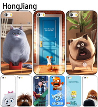 HongJiang secret life of pets cell phone Cover case for iphone 6 4 4s 5 5s SE 5c 6 6s 7 8 plus case for iphone 7 X(China)