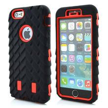 For iPhone 6S 4.7 inch New Tyre Tire Tread Robot Hybrid Anti Shock Armor Rubber Silicone Back Case Skin Cover For iPhone 6 Case(China)