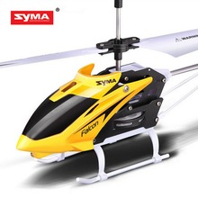 SYMA 2CH Outdoor Indoor Mini RC Helicopter With Gyroscope By Rock Kids Children Remote Control Toys Boys Birthday Gifts 2 Colors