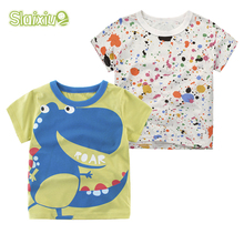 SLAIXIU Cotton Baby Kids T shirt For Summer Children T-shirt Cartoon for Boys Tees Clothes Gift boy t shirt baby Clothing 1-10Y