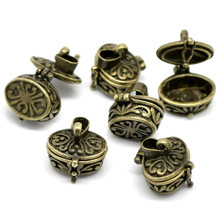 30Pcs Bronze Tone Love Heart Wish Boxes Pendants Jewelry DIY Findings Charm 20x18mm