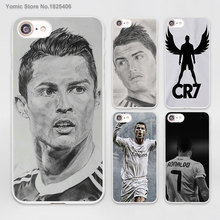 Cristiano Ronaldo CR7 Love Football Design hard White Skin Case for Apple iPhone 6 6s Plus 7 7Plus SE 5 5s 5c phone case(China)