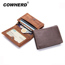 Buy Fashion Genuine Leather Women Men Card Holder Brand Small Female ID Credit Card Case RFID Blocking Wallet Crazy Horse Cowskin for $11.39 in AliExpress store