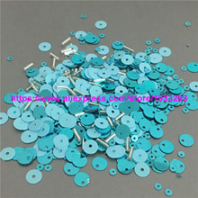3000Pcs Turquoise Mix Loose Sequins and beads Sewing Crafts For Christmas Decoration Ornament Garment Shake Cards(China)