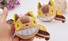 1X 10cm approx. new BUS Totoro tail Keychain plush doll , Stuffed totoro Plush Toy Doll